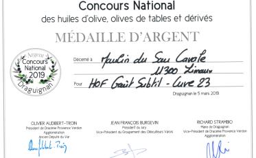 Médaille d'argent Goût Subtil 2019